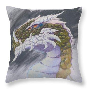 Red Eye Dragon Throw Pillow