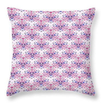 Red Fabric Pattern Throw Pillow