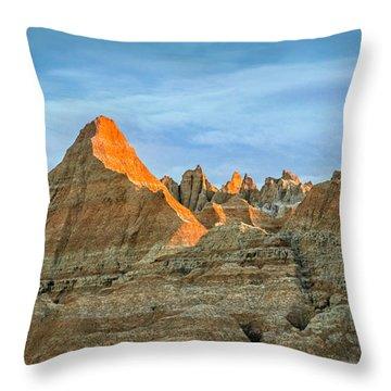 Red Faced Panorama Throw Pillow