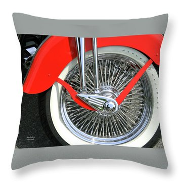 Red Fender Throw Pillow