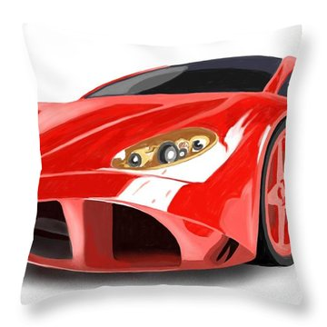 Red Ferrari Throw Pillow