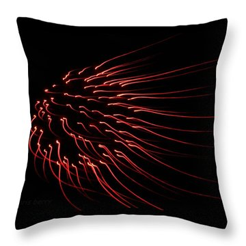 Throw Pillow featuring the photograph Red Firework  by Chris Berry