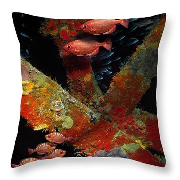 Red Fish On The Rhone Throw Pillow