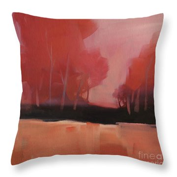Red Flair Throw Pillow