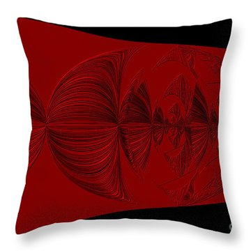 Red And Black Design Throw Pillow