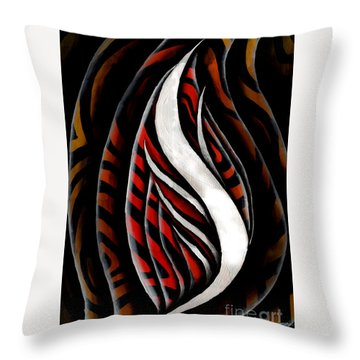 Red Flower Study #1 Throw Pillow by Luke Galutia