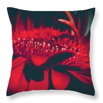Red Flowers Parametric Throw Pillow by Sharon Mau