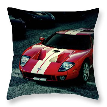Red Ford Gt Throw Pillow