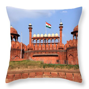 Red Fort New Delhi Throw Pillow