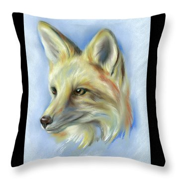 Red Fox Portrait Throw Pillow by MM Anderson