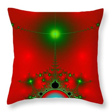 Throw Pillow featuring the digital art Red Fractal by Charmaine Zoe