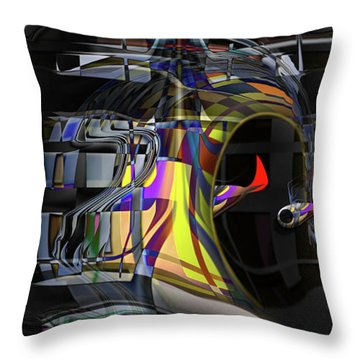 Throw Pillow featuring the digital art Red Franklies by Steve Sperry