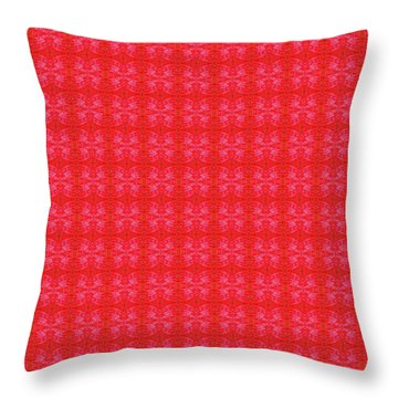 Throw Pillow featuring the painting Red From The Heart by Kym Nicolas