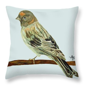 Red-fronted Serin Throw Pillow