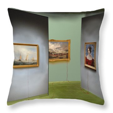 Red Gallery Throw Pillow