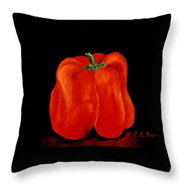 Red Garden Bell Throw Pillow
