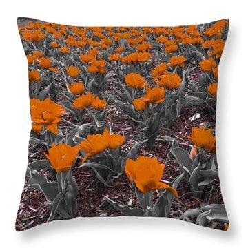 Red Garden Throw Pillow