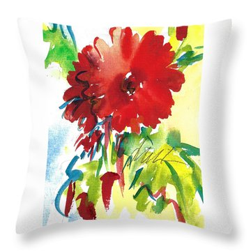 Gerberas Red, White, And Blue Throw Pillow
