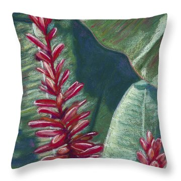 Red Ginger Throw Pillow by Patti Bruce - Printscapes