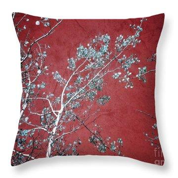 Red Glory Throw Pillow by Tara Turner
