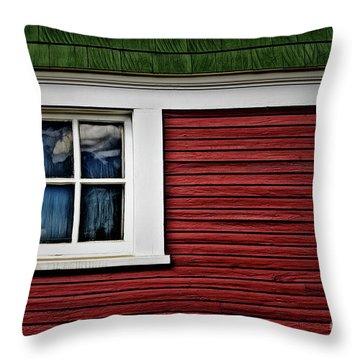 Throw Pillow featuring the photograph Red Green by Brad Allen Fine Art
