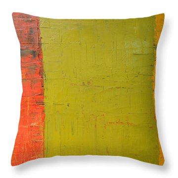 Red Green Yellow Throw Pillow by Michelle Calkins