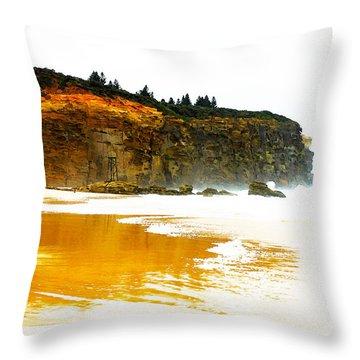 Red Head Beach Throw Pillow by Susan Vineyard
