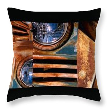 Throw Pillow featuring the photograph Red Head On by Steve Karol