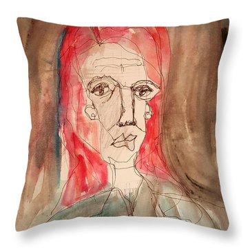 Red Headed Stranger Throw Pillow