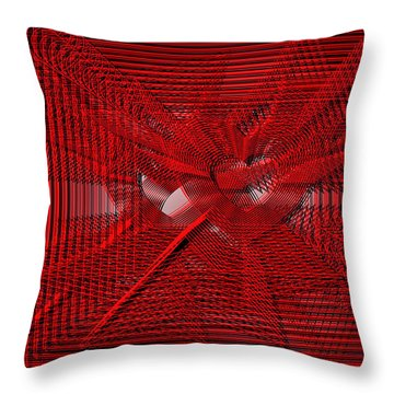Red Heartwires Throw Pillow