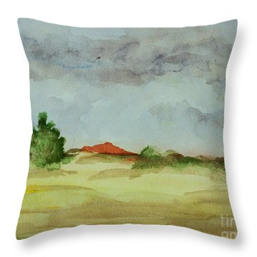 Red Hill Landscape Throw Pillow