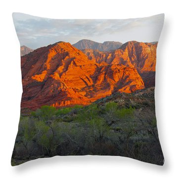 Red Hills Throw Pillow