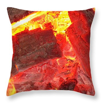 Throw Pillow featuring the photograph Red Hot by Betty Northcutt