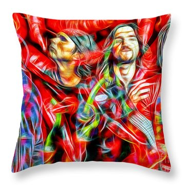 Red Hot Chili Peppers In Color II  Throw Pillow by Daniel Janda