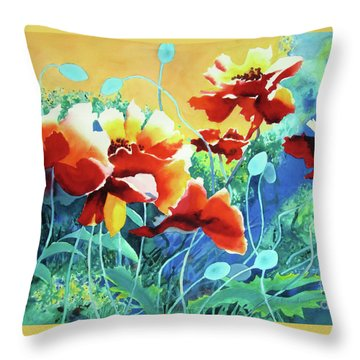 Red Hot Cool Blue Throw Pillow