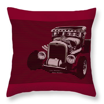 Red Hot Rat Throw Pillow by MOTORVATE STUDIO Colin Tresadern