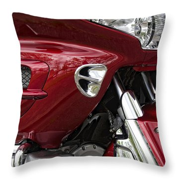 Red Hot Ride Throw Pillow