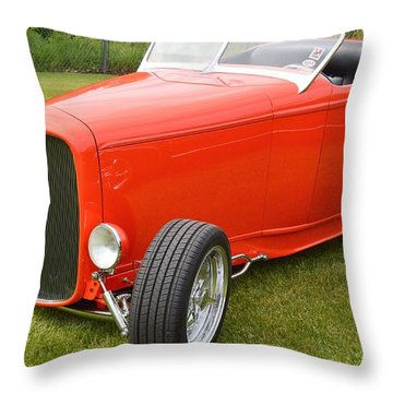 Red Hot Rod Throw Pillow
