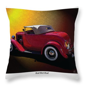 Throw Pillow featuring the photograph Red Hot Rod by Kenneth De Tore