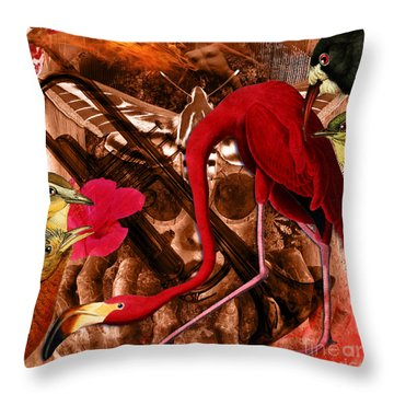 Red Hot Soul Music Throw Pillow