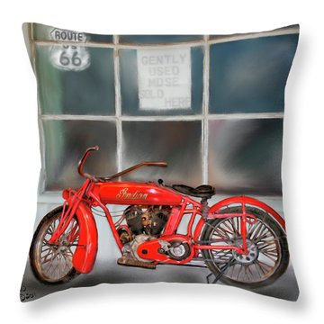 Red Hot Tail Gunner Throw Pillow by Colleen Taylor