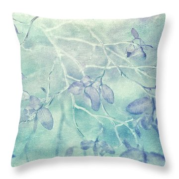 Throw Pillow featuring the photograph Red Huckleberry Blues  by Connie Handscomb