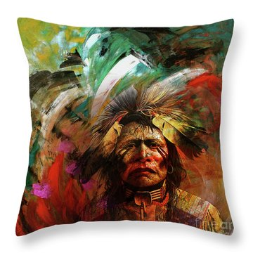 Red Indians 02 Throw Pillow