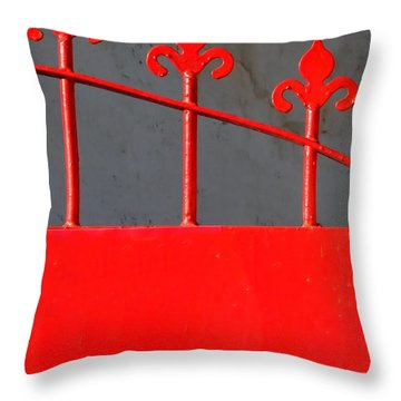 Red Iron Gate Throw Pillow by Yali Shi