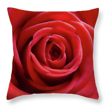 Throw Pillow featuring the photograph Red Is Gorgeous by Johanna Hurmerinta