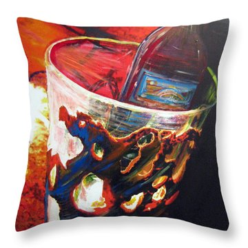 Red Throw Pillow by Jan VonBokel