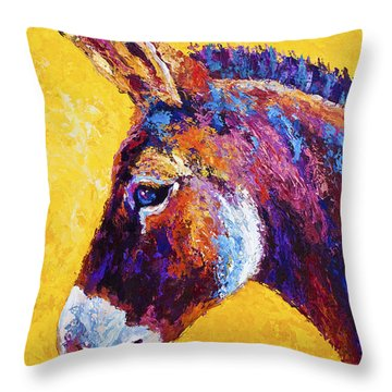 Red Jenny Throw Pillow