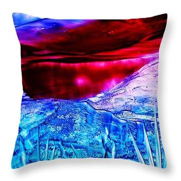 Red Lake Throw Pillow