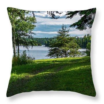 Red Lake Ontario 2 Throw Pillow