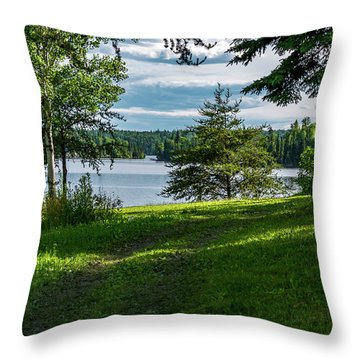 Red Lake Ontario 2 Throw Pillow